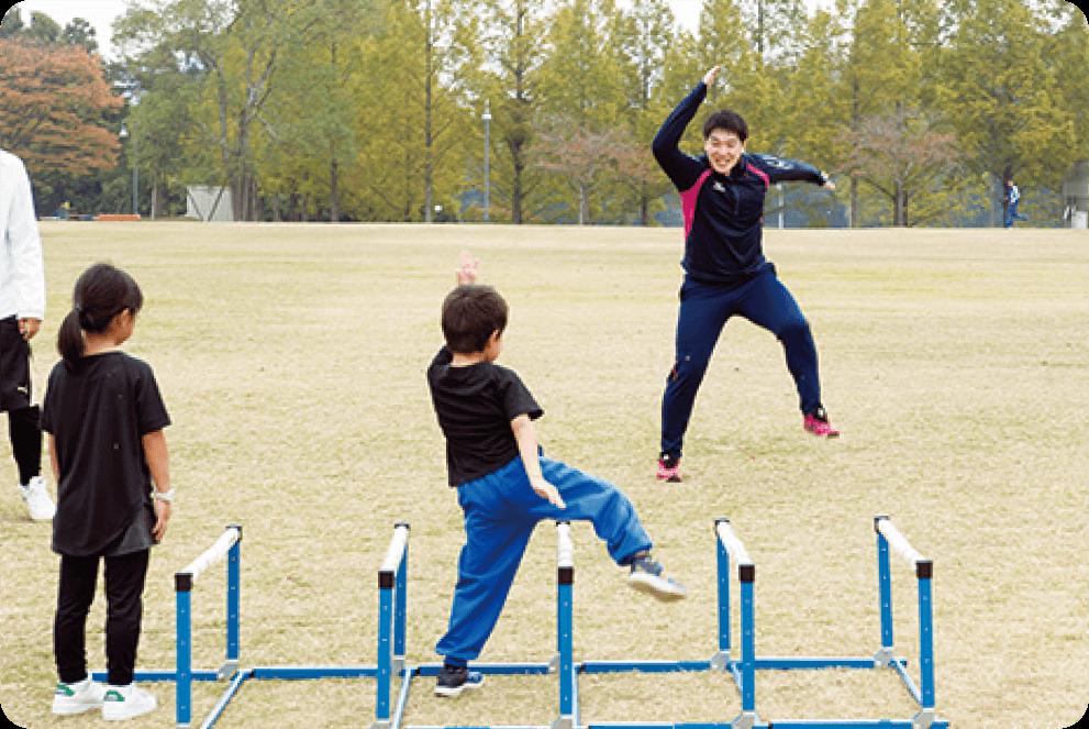 生徒とコーチ